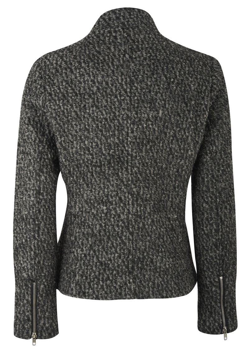 Boucle Knit Jacket - Black & Grey main image