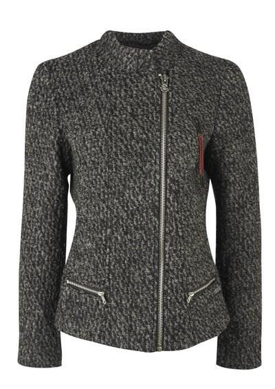Maison Scotch Boucle Knit Jacket - Black & Grey main image