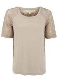 Paul & Joe Sister Moderato Short Sleeve Lace Top - Beige