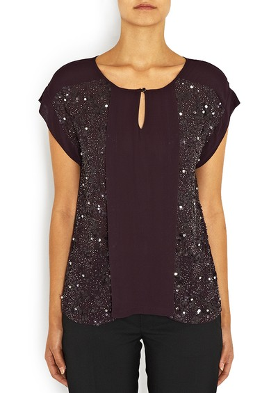 Day Birger et Mikkelsen  Merged Sequin Top - Fig main image