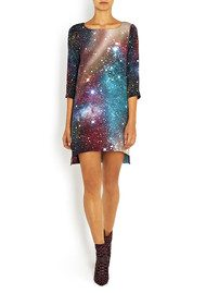 Virginie Castaway Lara Silk Dress - Space