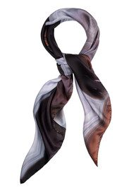 Weston Scarves Island Agate Silk Scarf - Grey