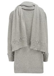 Great Plains Free Hugs Scarf Chunky Knit - Grey