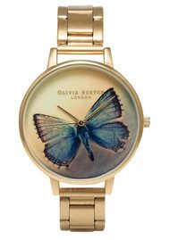 Olivia Burton Woodland Butterfly Bracelet Watch - Gold