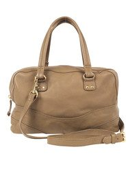 E Sienna Leather Handbag - Fossil Brown