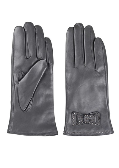 Becksondergaard E Bow Leather Gloves - Grey main image