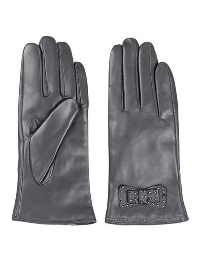 Becksondergaard E Bow Leather Gloves - Grey main image
