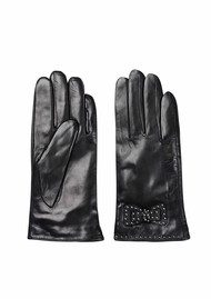 Becksondergaard E Bow Leather Gloves - Black