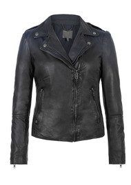 Muubaa Salazar Ombre Leather Jacket - Indigo