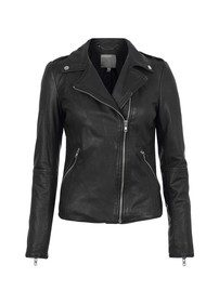 Carmona Biker Leather Jacket - Black