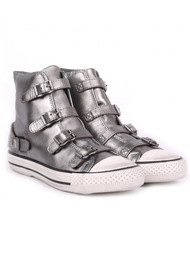 Ash Virgin Leather Trainers - Silver