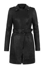 Muubaa Taras Long Leather Jacket - Black