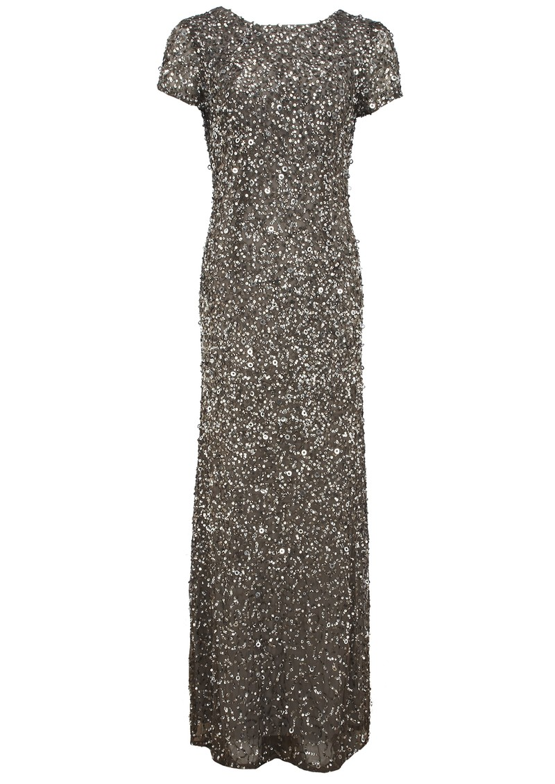 Scoop Back Beaded Dress - Lead main image