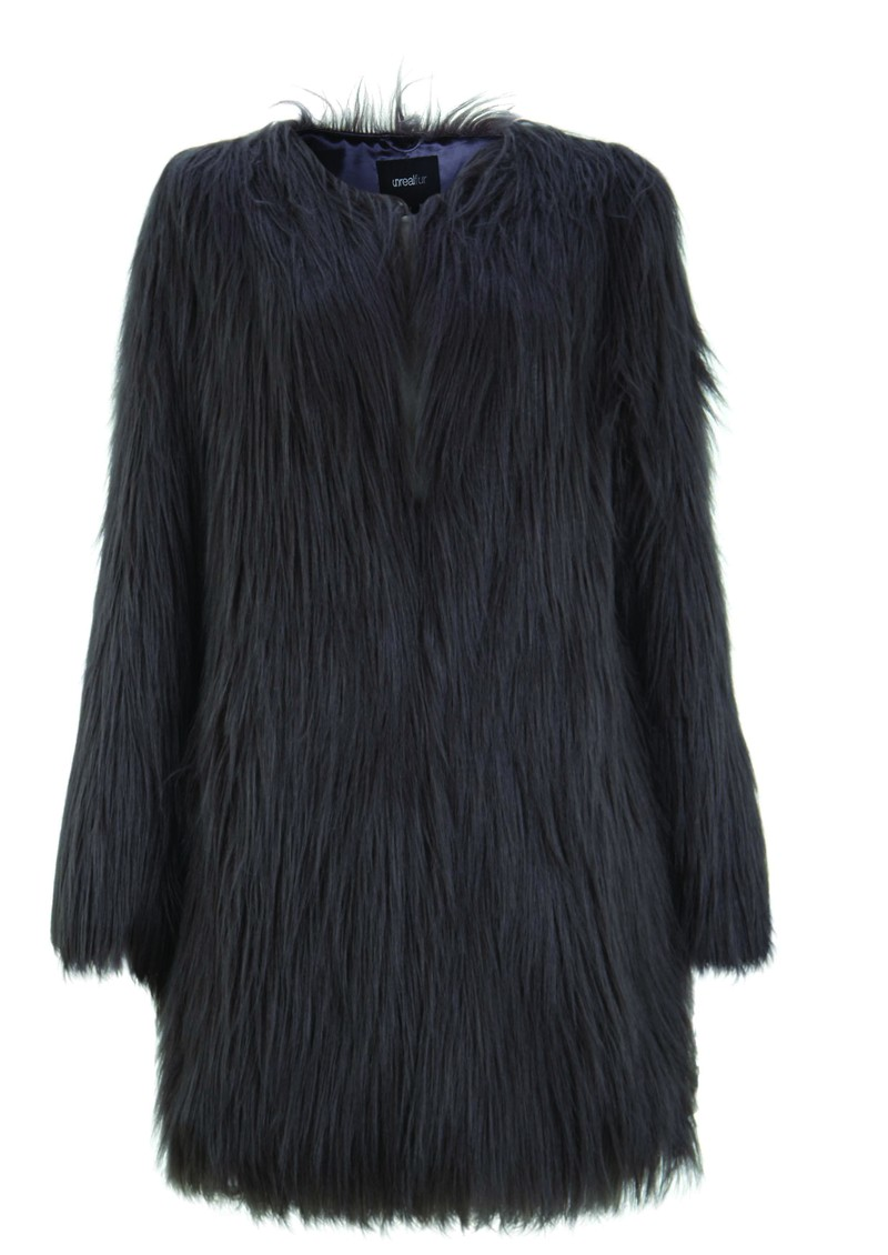 Wonderlust Faux Fur Coat - Slate main image