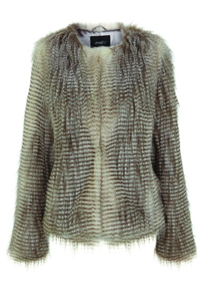 Unreal Fur Furry Floss Faux Fur Jacket - Chocolate Raccoon  main image