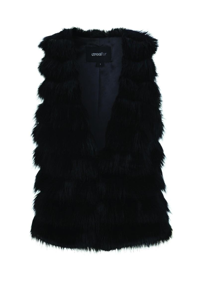 Unreal Fur Faux Fur Vest - Black main image