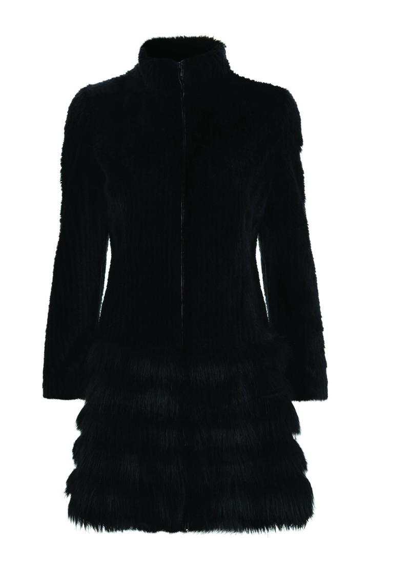 Unreal Fur The Raven Faux Fur Coat -  Black main image