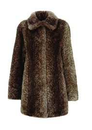 Unreal Fur Furever Yours Faux Fur Coat - Ocelot