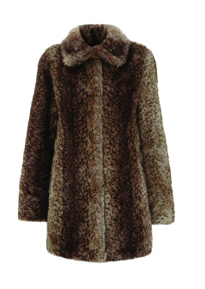 Unreal Fur Furever Yours Faux Fur Coat - Ocelot main image