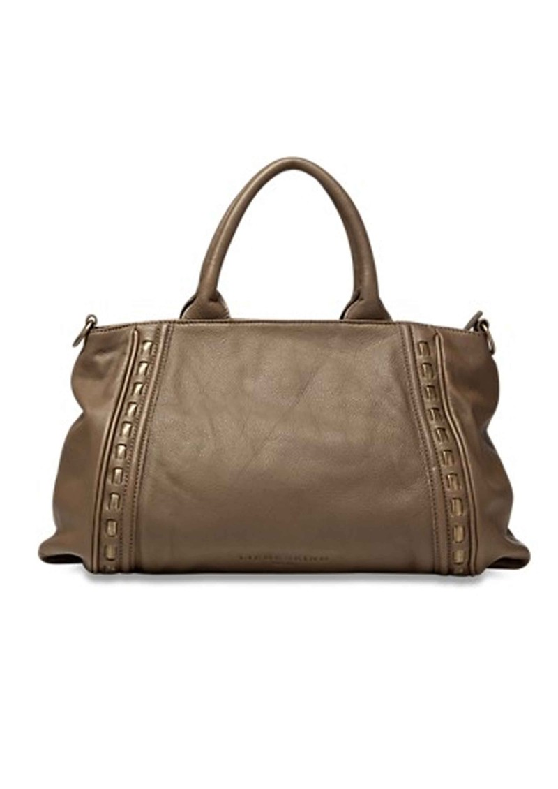 Tonya Metal Rope Leather Handbag  - Truffle main image
