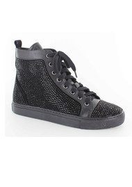 Lola Cruz Jewelled Trainers - Black