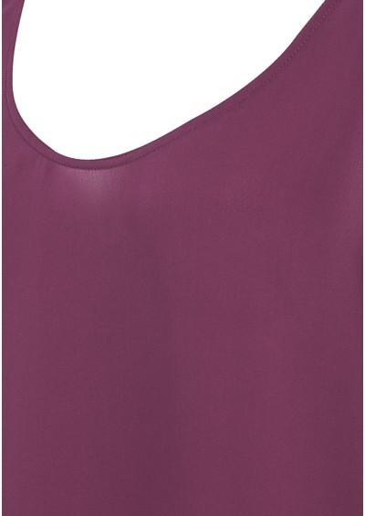 American Vintage Pierre Silk Vest - Plum main image