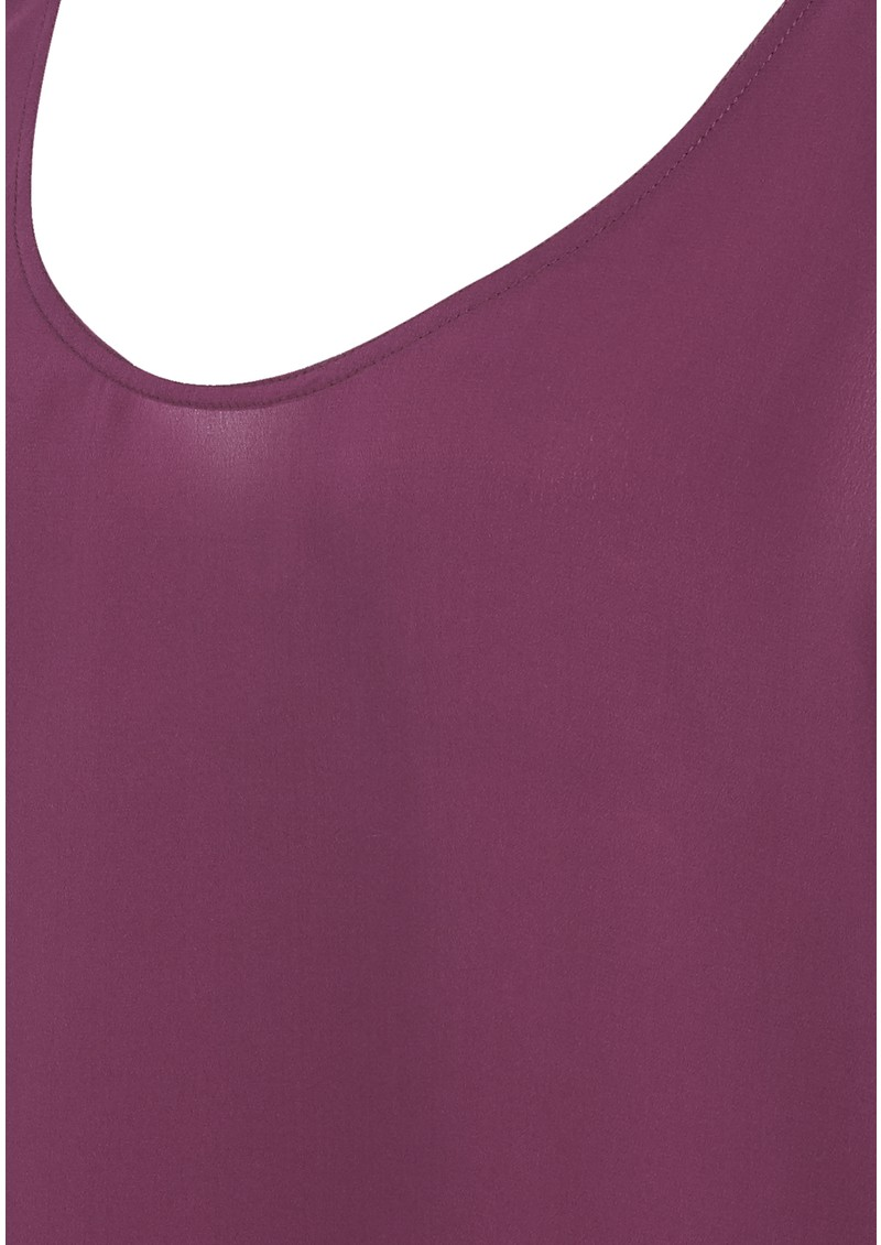 Pierre Silk Vest - Plum main image