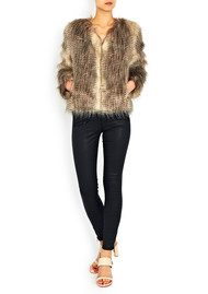 Unreal Fur Furry Floss Faux Fur Jacket - Chocolate Raccoon