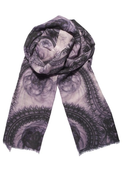 Lily and Lionel LaceT Silk & Wool Mix Scarf - Lavender main image