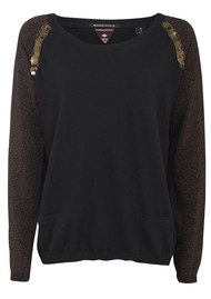 Maison Scotch Special Embroidered  Knit - Black