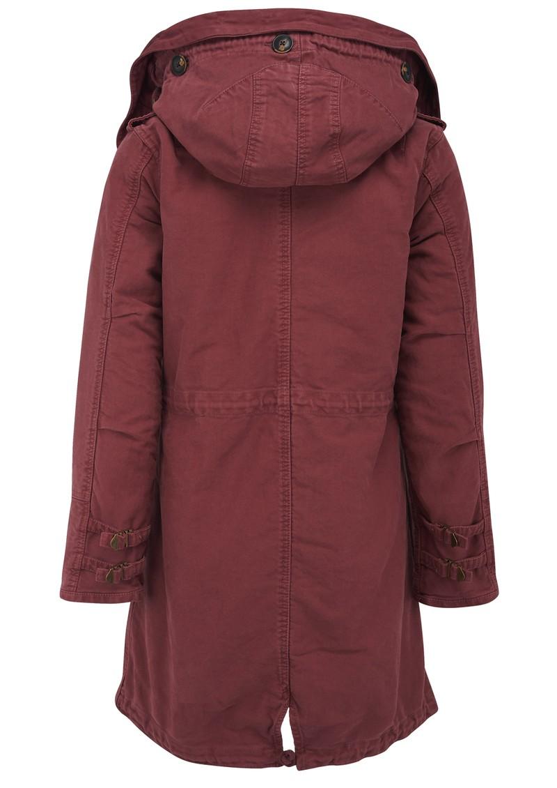 maison scotch hooded parka jacket desert red. Black Bedroom Furniture Sets. Home Design Ideas