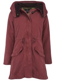 Maison Scotch Hooded Parka Jacket - Desert Red