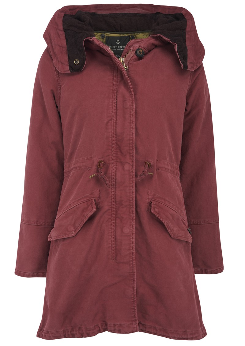maison scotch hooded parka jacket desert red. Black Bedroom Furniture Sets. Home Design Ideas