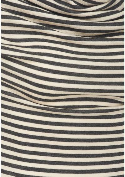 Farhi Mini Stripe Drape Tee - Charcoal  main image