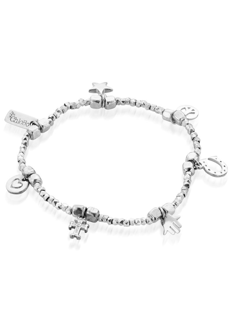 ChloBo Lucky 13 Multi Charm Bracelet - Silver main image