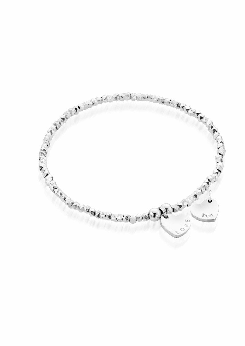 Lucky 13 Mini Fancy Bracelet with Love Charm - Silver main image