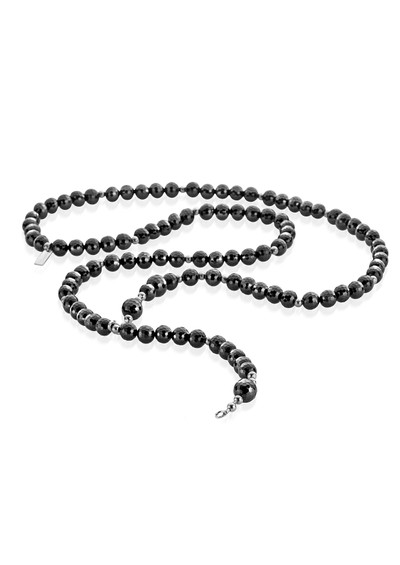 ChloBo Lucky 13 Black Sparkle Necklace Length Two - Black & Silver  main image