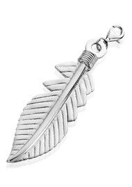 ChloBo XL Feather Pendant - Silver