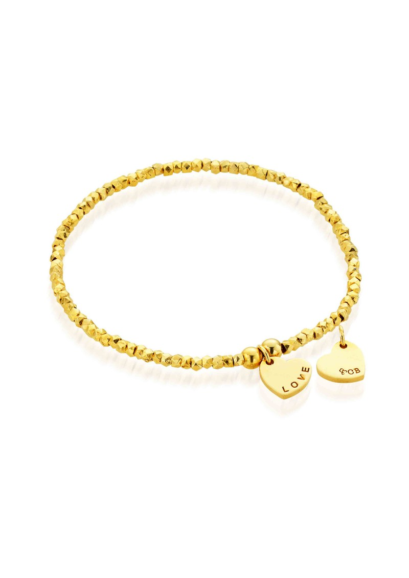 Lucky 13 Mini Fancy Bracelet with Love Charm - Gold main image