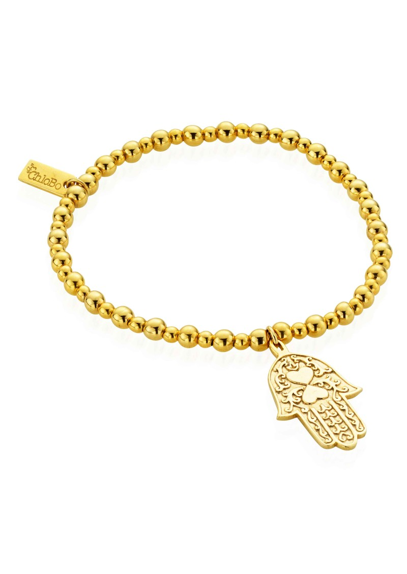 ChloBo Lucky 13 Gold Didi Small Ball Bracelet Hamsa Hand - Gold main image