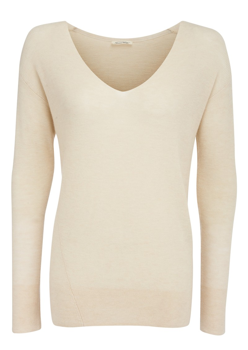 American Vintage Magnolia Wool and Cashmere Mix Jumper - Ivory main image