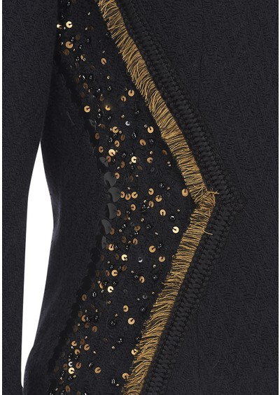 Maison Scotch Embellished Cotton Blazer - Black main image