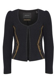 Maison Scotch Embellished Cotton Blazer - Black