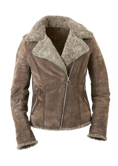 Jofama Mika Leather Suede Jacket - Light Brown main image