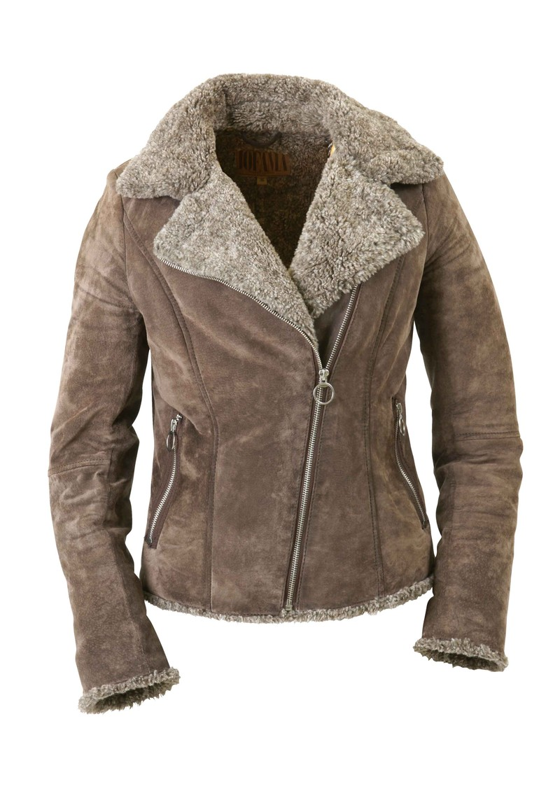 Mika Leather Suede Jacket - Light Brown main image