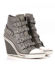 Ash Thelma Wedge Buckle Trainers - Stone