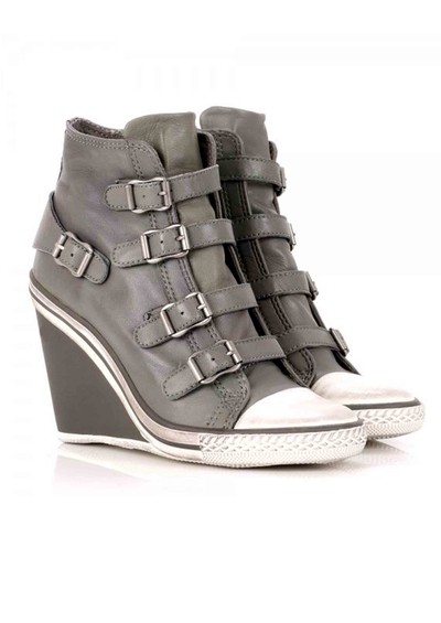 Ash Thelma Wedge Buckle Trainers - Stone main image