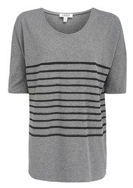 Farhi Breton Stripe - Dark Grey