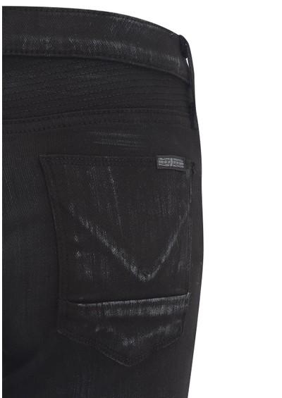 Hudson Jeans Shelby Moto Wax Skinny - Black & Silver main image