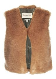 Paul & Joe Sister Nouours Faux Fur Gillet - Vieux Rose
